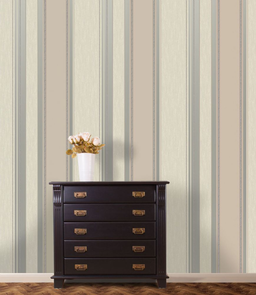 Crown Synergy Stripe Taupe M0784 Wallpaper
